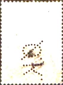 Kbh1.) Perfinbillede Ø 7 A/S Det Østasiatiske Kompagni. Kbh. Alm. Stempelmærke: Øreværdi: 50 øre. Udgivelsesår: 1911 Katalog-henvisnings-nummer: 81 Ramme / Baggrundsfarve: Grøn / Rød. Kroneværdifarve: Sort. Baggrundsdesign: Lodret mønster bestående af prikker  Rhomber  og prikker i parenteser () Stilling: 6
